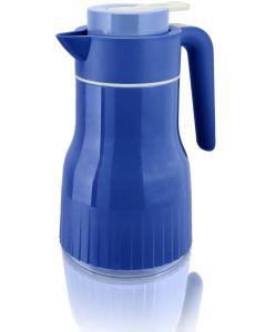 Thermoskanne Plissè 1Liter von enjoy in blau